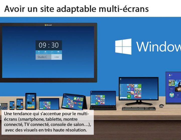 Avoir un site adaptable multi-écrans