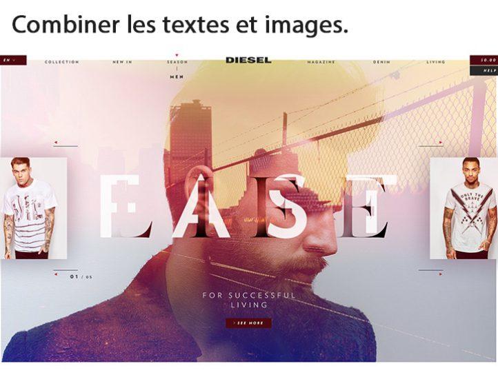 Combiner les textes et images