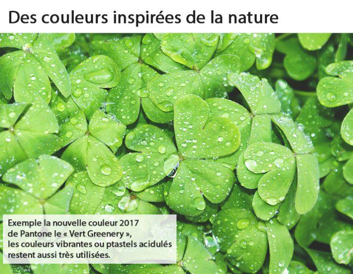 Des couleurs inspirées de la nature