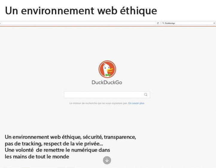 Un envirronnement web éthique